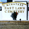 East Lawn Cemetery entrance gate