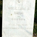 King, William A