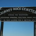 Chimney Rock Cemetery entrance gate