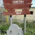 Plum Creek Pioneer Cemetery sign