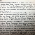 Good Hope Cemetery info