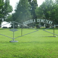 Osceola Cemetery entrance gate