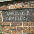 Janesville Cemetery entrance gate